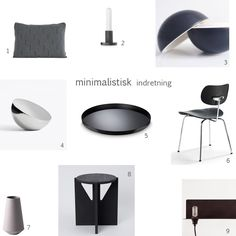 Minimalistisk indretning Minimalist Design, Table, Furniture, Home Decor, Homes, Minimal Design, Decoration Home, Room Decor, Tables