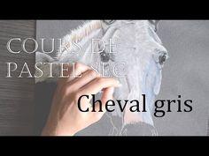Cours de pastel Cheval gris Drawing Sketches, Art Drawings, Art Pastel, Painting Videos, Horse Art, Art Tips, Pet Portraits, Art Tutorials, Illustration