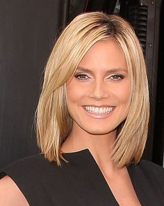Heidi Klum Medium Straight Cut - Heidi Klum Shoulder Length Hairstyles - StyleBistro
