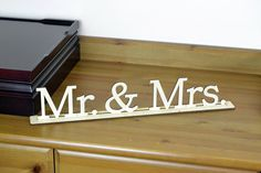 Mr & Mrs Wood Word Sign / Wedding /  Freestanding Home Decor / Housewarewes /  Wooden Letters