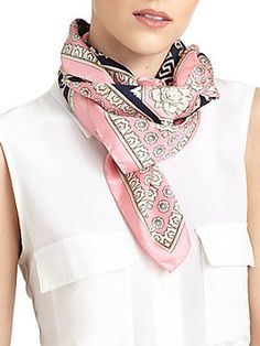 Silk Versace Scarf on shopstyle.com