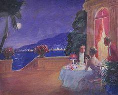 EDWARD CUCUEL (1875-1954) AMERICAN On the Veranda,