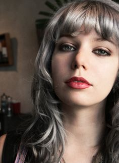 Seriously, this is grey hair done well.  I want to achieve this on a young blonde.  Who's down?