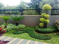 Best ideas for landscaping shrubs evergreen garden design Garden Border Stones, Garden Stones, Garden Borders, Backyard Garden Landscape, Backyard Patio, Large Backyard, Balcony Gardening, Rustic Backyard, Fence Garden
