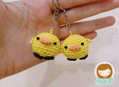 Duck amigurumi keychain