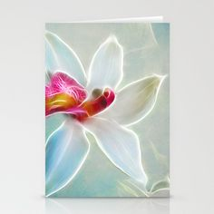 Orchid Blues Stationery Cards by F Photography and Digital Art - $12.00