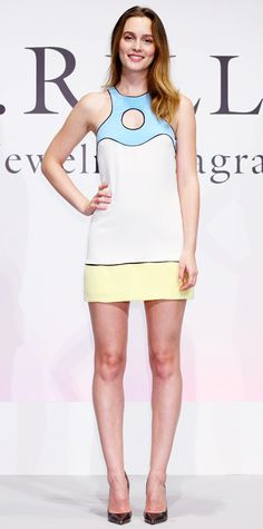 Leighton Meester in Emilio Pucci #InStyle