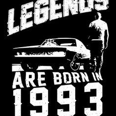 Legends Are Born In 1993 #birthdaygift