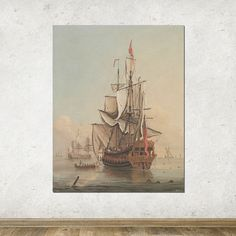 18 x 22 Vintage Art Scenic Art Large Print of by anewalldecor