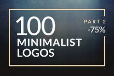 100 Minimalistic Logos Part 2 by Piotr Łapa on @creativemarket