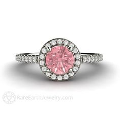 Hey, I found this really awesome Etsy listing at https://www.etsy.com/listing/200074105/pink-sapphire-engagement-ring-pink