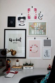 A parede mais bonitona home office room decor, office decor Room Decor For Teen Girls, Girls Bedroom, Bedroom Decor, Decor Room, Bedroom Ideas, Bedrooms, Dream Bedroom, Decoration Inspiration, Room Inspiration