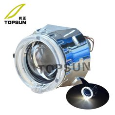 """57.80$  Watch now - http://alixlj.worldwells.pw/go.php?t=2035670871 - """"headlight kit 2.5"""""""" WST Projector Lens, Cover, LED Fiber Optic / Light Guide Angel Eyes, High / Low Beam Control Wire"""" 57.80$"""