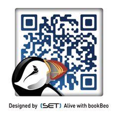 QR Code bookBeo designé par SET QR Qr Codes, Coding, Design, Design Comics, Programming