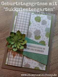 stampin with fanny: MtS # 155: Preview Spring / Summer Catalog 2017: birthday greetings with succulent