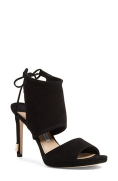 Free shipping and returns on Diane von Furstenberg 'Laie' Sandal (Women) at Nordstrom.com. A wide ankle cuff adds ample modern elegance to a lofty open-toe sandal featuring a dainty back tie and rich Italian suede composition.