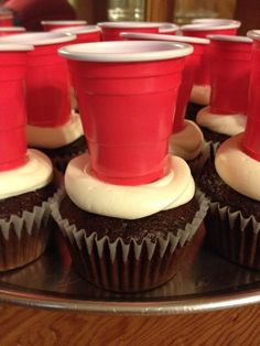 Jell-O shot inside cup? Beer Olympics Party, Cakepops, Redneck Party, Redneck Games, 21st Birthday Cupcakes, White Trash Party, Red Solo Cup, 21st Party, Beer Pong