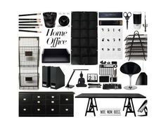 """Home Office"" by marionmeyer on Polyvore featuring interior, interiors, interior design, Zuhause, home decor, interior decorating, Sloane Stationery, The BrowGal, Ballard Designs und Smythson"