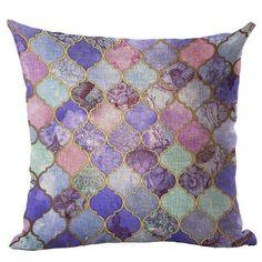 Throw Pillow Mosaic Style Cushion Cotton Linen Mosaics Colorful Cushion Bird Square Blue Sofa Chair Throw Pillow Home Decorative Geometric Cushions, Colourful Cushions, Cushion Covers, Pillow Covers, Cushion Pillow, Throw Pillow Cases, Throw Pillows, Moroccan Cushions, Geometric Type