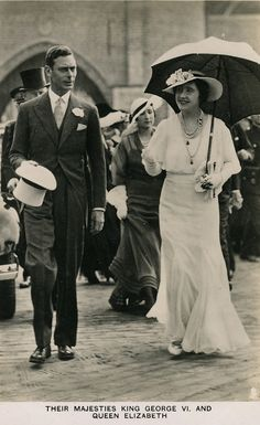 Their Majesties King George VI, and Queen Elizabeth.