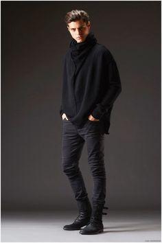 Lars Anderson presenta lookbook de invierno con negros totales