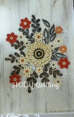 By AYŞIN AYAN.On my face page HOBY Quilling.
