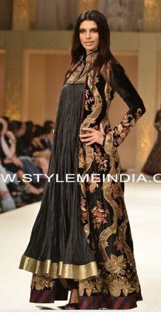 Rohit Bal. Love the long jacket but not fan of the dress. Doesn't look flattering
