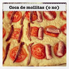 Recetas Alicantinas | Coca de Mollitas (o no) Hot Dogs, Sausage, Alicante, Meat, Vegetables, Html, Ethnic Recipes, Food, Sweet And Saltines