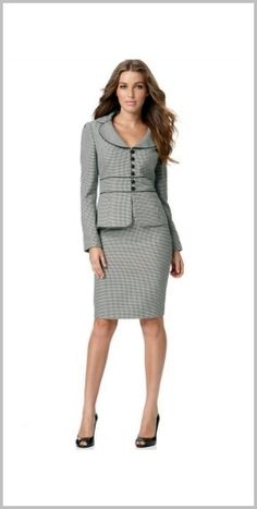 Long-sleeved Wool Business Dress D49H, Other, HEGO Long-sleeved ...