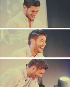 laughing Jensen--just what I need <3