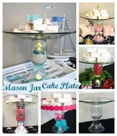 How to make a recycled mason jar cake plate