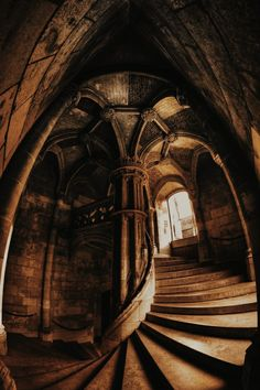 Gothic Architecture, Beautiful Architecture, Beautiful Buildings, Stairs Architecture, Futuristic Architecture, Ancient Architecture, Chateau De Blois, Slytherin Aesthetic, Stairway To Heaven