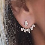 Women's Stud Earrings Tassel Costume Jewelry Fashion Alloy Leaf Jewelry For Party Birthday Daily 2017 - $54.03