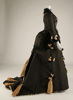Afternoon dress, A. Corbay, ca. 1874; MMA C.I.68.53.4a, b