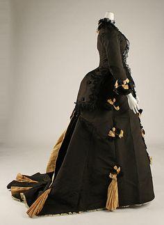 Afternoon dress, A. Corbay, ca. 1874; MMA C.I.68.53.4a, b