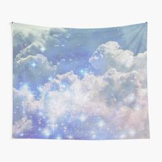 Cloud Vintage Sparkly Aesthetic • Millions of unique designs by independent artists. Find your thing. Tapestry Bedroom, Tapestry Wall Hanging, Thing 1, Tapestry Design, Textile Prints, Top Artists, Aesthetic Pictures, Sell Your Art, Wall Prints