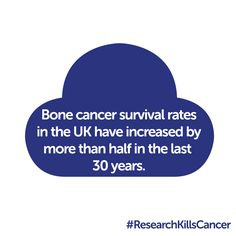 FIND OUT MORE - Bone cancer survival rates in the UK have increased by more than half in the last 30 years, and connective tissue cancer survival rates have increased by around a third in this period. Find out more: http://www.cancerresearchuk.org/cancer-help/type/bone-cancer/