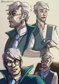 So Harold is the hardest one to find faceclaims for, but: mix Orion Acaba with Percy the Gunslinger - no hair, but keep the glasses - and you've got SOMETHING like him