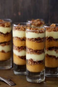 What a fabulous Thanksgiving dessert! Pumpkin Praline Trifle_Bakers Royale --*Exchange the milk for Flax milk or Almond milk Cal), use organic coconut sugar instead of regular. Thanksgiving Desserts, Fall Desserts, Just Desserts, Trifle Desserts, Christmas Desserts, Pumpkin Trifle, Pumpkin Dessert, Pumpkin Pudding, Pumpkin Cheesecake
