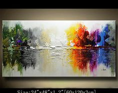 Original Acrylic Abstract painting ABSTRACT PAINTINGS Modern Art for sale LARGE modern art Textured Modern Palette Knife Painting Chen 0831