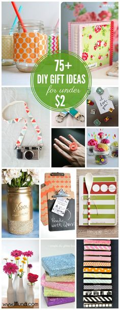 75+ Awesome Handmade Gift Ideas For Under $2!! { lilluna.com } #giftideas #gifts  This is a good list to keep year round for quick gifts that my girl can make on her own!