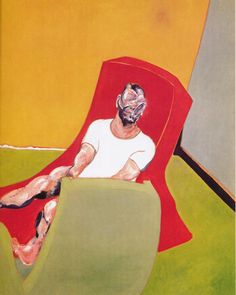 Double Portrait of Lucian Freud and Frank Auerbach, 1964 (right panel) by Francis Bacon © The Estate of Francis Bacon. All rights reserved, DACS/Artimage Photo: Prudence Cuming Associates Ltd Francis Bacon, Frank Auerbach, Lucian Freud, Michel Leiris, Jackson Pollock, Outdoor Art, Animal Design, Famous Artists, Dibujo
