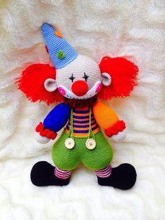Crochet Doll Pattern, Crochet Patterns Amigurumi, Amigurumi Doll, Crochet Dolls, Crochet Baby, Knit Crochet, Clowns, Crochet Octopus, Crochet Snowman