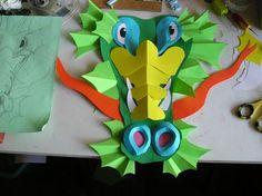 Origami Dragon, Art Origami, Make A Dragon, Dragon Art, Projects For Kids, Art Projects, Crafts For Kids, Kirigami, Dragon Project