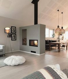 Love this 🔥 Cre - Raumteiler ideen- Love this Cre Love this Cre The post Love this Cre appeared first on Raumteiler ideen. Love this Cre Love this Cre The post Love this Cre appeared first on Raumteiler ideen. Living Room With Fireplace, Home Living Room, Living Room Decor, Modern Fireplace, White Fireplace, Fireplace Kitchen, Bathroom Fireplace, Inspire Me Home Decor, Modern Interior