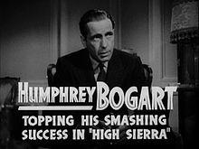 From the trailer, Bogart as Sam Spade in Dashiell Hammett's The Maltese Falcon