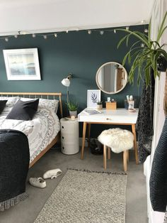 Room Makeover: Our master bedroom revamp - Dekko Bird Room Design Bedroom, Room Ideas Bedroom, Home Decor Bedroom, Bedroom Wall, Scandi Bedroom, Bird Bedroom, Bedroom Color Schemes, Bedroom Paint Colors, Bedroom Carpet