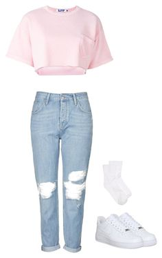 """Untitled #14"" by nabilaauliaa on Polyvore featuring Topshop, Steve J & Yoni P, NIKE and Hue"