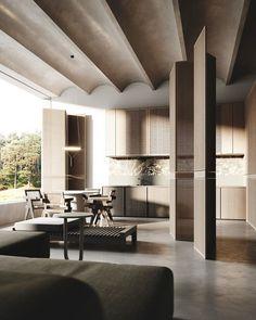Contemporary Interior Design, Shop Interior Design, Interior Design Inspiration, House Design, Residential Interior Design, Architecture Design, Architecture Visualization, Architecture Diagrams, Architecture Portfolio
