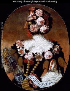 Gjeraqina Ukshini  전 Kosovo 번역 보기 Giuseppe Arcimboldo, Italian painter, The Sense of Smell Giuseppe Arcimboldo, Italy Painting, Italian Painters, Italian Artist, Oil Painting Reproductions, Art Uk, City Art, Botanical Art, Optical Illusions